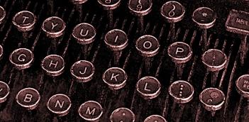 Typerwriter keys  wc sepia E tiny 2349