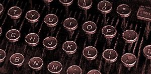 sepia typewriter keys