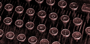 sepia typewriter keys