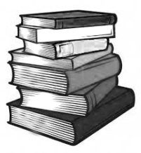 Stack of books B&W