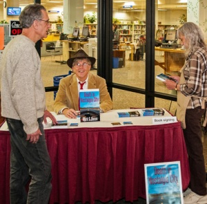 Signing books at the Friends of the Washoe County Library Bookstore Nov. 7