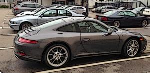 Porsche-in-lot